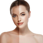 tanning accelerator guide half tanned and half white face
