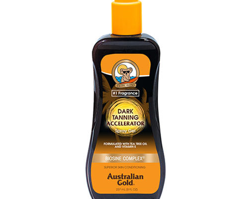 Australian Gold Dark Tanning Accelerator Spray Gel with Bronzer